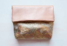 RESERVED For Shiona. Gold Metallic Clutch. Floral Silk Clutch. Leather Envelope Clutch | Sumally
