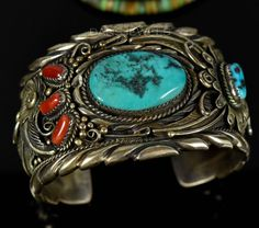 BIG Kingman Blue Turquoise - AMAZING CONDITION FOR ITS AGE! Authentic Navajo Handcrafted Sterling Silver Cuff Men's Bracelet. This is a SUPER WELL MADE BRACELET! Weighs 110.4 grams SOLID Sterling Silver. | eBay!