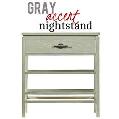 A nightstand should offer you ample storage, but should it not also be lovely to look at? The nightstand says yes to both ideas. The roomy drawer gives you a place to stow reading glasses or a book, while the two open shelves provide an airy display space that turns the bedroom into the retreat it was meant to be. Features one drawer and two stationary shelves.