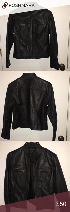 Brand new black leather jacket! Brand new never worn leather jacket. Valerie Stevens size Small. All zippers Work. Beautiful jacket! Valerie Stevens Jackets & Coats