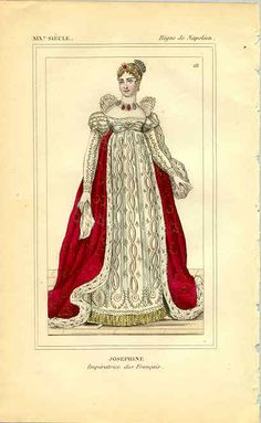 The Empress Josephine in Court Dress