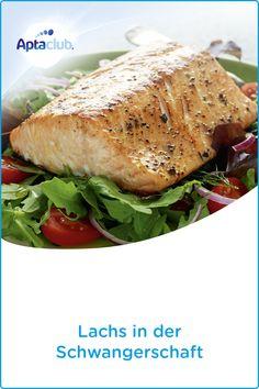 Ernährung in der Schwangerschaft: Der Eiweißbedarf erhöht sich ab dem vierten Schwangerschaftsmonat. Eiweiß ist z.B. in Lachs enthalten. Erfahre auf aptaclub.at mehr über den Eiweißbedarf und wie du ihn während der Schwangerschaft decken kannst. Salmon Burgers, Vegan, Ethnic Recipes, Low Carb, Gluten, Food, Helpful Tips, Metabolism, Good Food