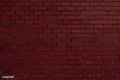 Dark red brick textured background vector | free image by rawpixel.com / Niwat Red Gradient Background, Red Texture Background, Brick Wall Background, Background Ideas, Concrete Wall Texture, Brick Texture, Black Brick Wall, White Brick Walls, Image Fun