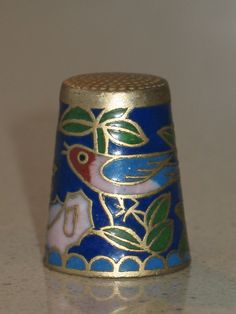 thimble sewing collectibles cloisonne  by LIGONaccessories on Etsy