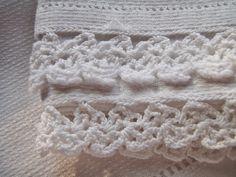 Fine linen with crochet lace trim.