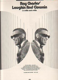 Billboard ad for Ray Charles, Laughin' And Clownin' (1970).