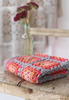 granny square,crochet blanket