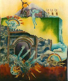 Fall of Babylon - Hand-dyed silk - 4 ft - 5ft