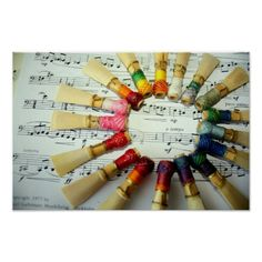Bassoon Reed Rainbow Posters