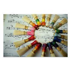Bassoon Reed Rainbow Posters