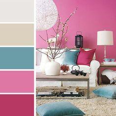 Rose et bleu, les palettes de couleurs inspirent des idées créatives