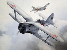 Polikarpov I-153 Chaika by Darryl Legg