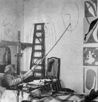 Matisse working from his bed
