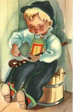 Gratulasjonskort Elbjørg Øien Moum Utg Mittet Christmas Cards, Christmas Postcards, Princess Zelda, Disney Princess, Decoration, Mittens, Norway, Disney Characters, Fictional Characters