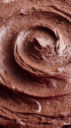 Dark Chocolate Cream Cheese Buttercream Frosting by WickedGoodKitchen.com ~ Rich, double chocolate, light and fluffy cream cheese buttercream that pipes beautifully. It tastes like chocolate cheesecake and the texture is like mousse! | dessert filling frosting recipe