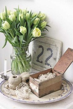Great Rustic White Vignette