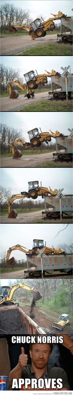 This guy can run a backhoe