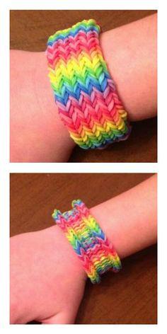 Rainbow Loom How-To: The  Rainbow Weave 3-in-1 cuff bracelet