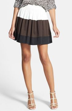 kate spade new york 'coreen' colorblock skirt available at #Nordstrom