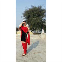#Punjabi  #Punjab #India #redandblack #shalwarkameez #salwarsuit