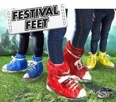 Festival Feet, sacchetti antipioggia per le scarpe