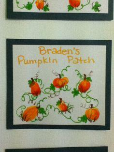 My toddler daycare classroom pumpkin patch from babies fingerprint