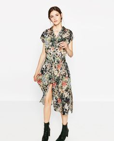 LONG PRINTED TUNIC-DRESSES-WOMAN | ZARA United Kingdom