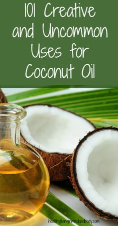 101 Creative and Uncommon Uses for Coconut Oil || There are only a few uses listed on this page. There is a link that takes you to a different site, which I had some tech troubles with, but even the list on the first page has some good ideas. I've tried some of them with good results.