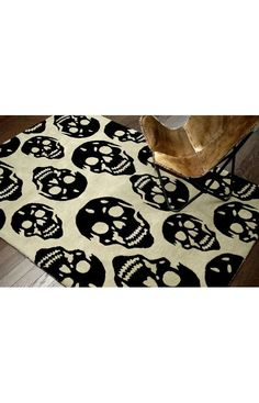 Rugs USA Cradle Skulls Taupe Rug. Rugs USA Halloween Sale 75% Off! Area rug, rug, carpet, design, style, home decor, interior design, pattern, home interior,  trends, home, statement, fall,design, autumn, cozy, sale, discount, interiors, house, free shipping, Halloween, fall decorations, fall crafts, fall décor, great winter, winter, warm, furniture, chair, art.