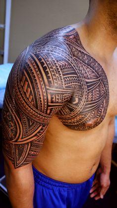Samoan tattoo - Michael Fatutoa http://pinterest.com/treypeezy http://twitter.com/TreyPeezy http://instagram.com/OceanviewBLVD http://OceanviewBLVD.com