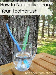 Dip Toothbrush in vinegar soak for 15-20 minutes