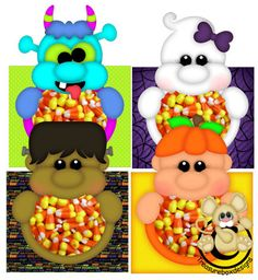 Candy Boxed Halloween - Treasure Box Designs Patterns & Cutting Files (SVG,WPC,GSD,DXF,AI,JPEG)