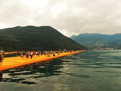 The Floating Piers, opera dell'artista Christo a Monte Isola sul lago d'Iseo