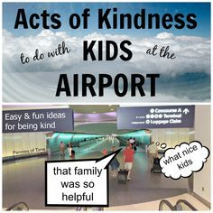 Acts of Kindness Kids Can Do at the Aiport