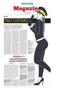 Entrevista com a cantora Anitta publicada no jornal O Popular de  18 de dezembro de 2015