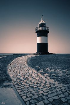 Lighthouse in the North Sea, Germany