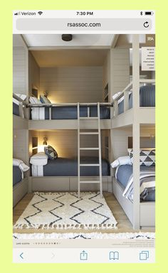 Awesome and Spirited Bunk Beds Concepts - Vivid or single layouts of can take advantage of the purchase of an awesome bunk bed. We provide you 30 trendy and lively bunk bed suggestions. Bunk Bed Rooms, Cool Bunk Beds, Kids Bunk Beds, Cabin Bunk Beds, Bunk Beds With Stairs, Best Bunk Beds, Build In Bunk Beds, Boys Bunk Bed Room Ideas, Loft Spaces