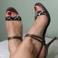 """BCBG Leopard sandals Gorgeous pair of sandals in leopard calf hair. Gently used, perfect condition,  4 1/4"""" heels. Great price. BCBG Shoes Heels"""