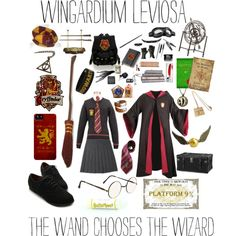 """Harry Potter Gryffindor outfit for Hogwarts"" by lulumalfoy on Polyvore"
