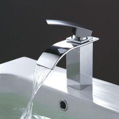 Mitigeur Cléa, design en laiton chromé pour lavabo