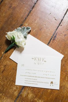Gold thermography RSVP // Darby + Chad // Shannon Joy Paperie