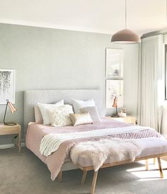 23 Pastel Bedroom for Graceful and Calm Atmosphere in Your Private Space Pastel Bedroom, Bedroom Colors, Bedroom Color Schemes, Dream Bedroom, Home Decor Bedroom, Bedroom Ideas, Bedroom Inspo, Bedroom Scene, Serene Bedroom