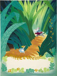 Mainstream Illustration, AMERICAN ILLUSTRATOR (20th Century). Walt Disney's Alice in  Wonderland, 1951.