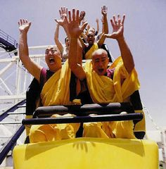 I love rollercoasters. Looks like these buddhist monks do too.