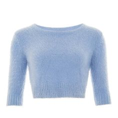 Isobel Fluffy Jumper Collectif Mainline Clothes and under @ Collectif and Vintage Style Clothing and Rockabilly Collection Vintage Sweaters, Blue Sweaters, Vintage Shirts, Vintage Tops, Vintage Style, Jumper Shirt, Crop Shirt, Cropped Sweater, Cropped Tops