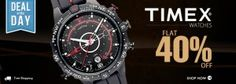 Get Flat 40% OFF On Timex Watches.