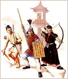 Michael Perry - Soldados de infantería chinos, dinastía Han del Este (tardía, c. 220 dC).
