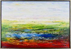 """Helle Bang - """"Engen og Havet"""" finns att köpa hos oss på Galleri Melefors / is available for purchase at Galleri Melefors #art #hellebang #bang #oilpainting #painting #interiordesign #colors #colorful #colorexplosion #beautiful #forsale #konst #oljemålning #interiör #design #färger #färgexplosion #vacker #tillsalu"""