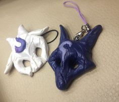 League of Legends Inspired Kindred Mask Charms by PittrPat on Etsy