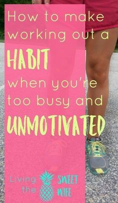 There's so many times when I DO want to work out but I feel like life is pulling me in 100 directions and there's just no way I can make it work! It's hard! These are tips that actually work to get me motivated to work out whether it's at the gym, at the park, or in my own home.